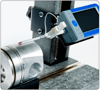 Working status of SURTRONIC S100 Series Robust and Portable Surface Roughness Testers