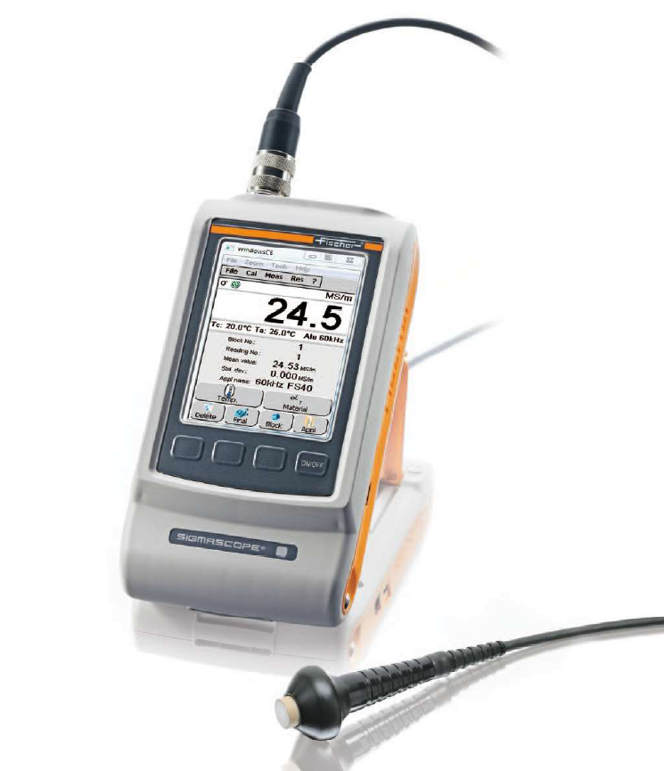 Handheld Setup of SigmaScope SMP350 Conductivity Tester