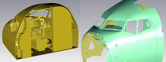3D Scanning service for airplane geometric measuring